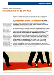 MCKINSEY & COMPANY: MOVING WOMEN TO THE TOP