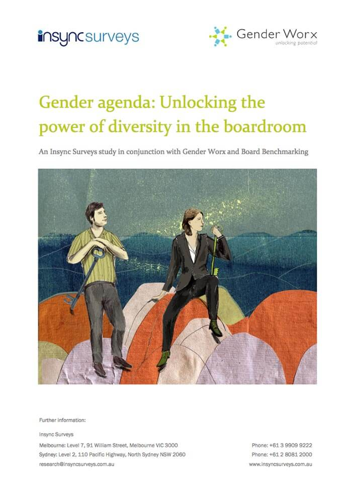 INSYNC SURVEYS AND BOARD BENCHMARKING: GENDER AGENDA: UNLOCKING THE POWER OF DIVERSITY IN THE BOARDROOM