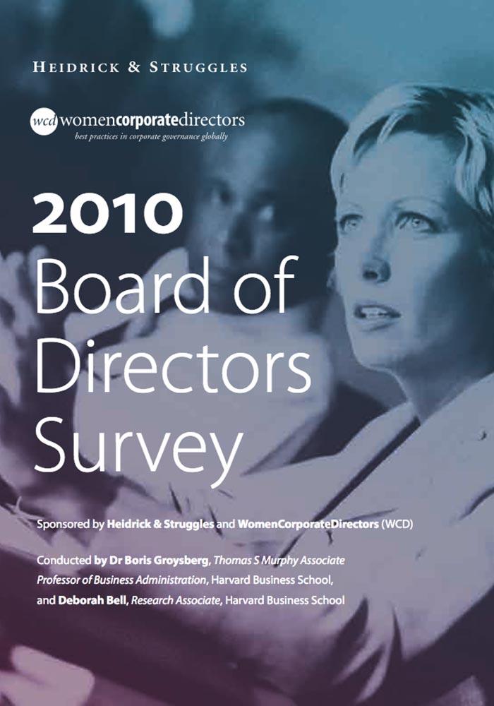 HEIDRICK & STRUGGLES: 2010 BOARD OF DIRECTORS SURVEY- WOMEN CORPORATE DIRECTORS: BEST PRACTICES IN CORPORATE GOVERNANCE GLOBALLY