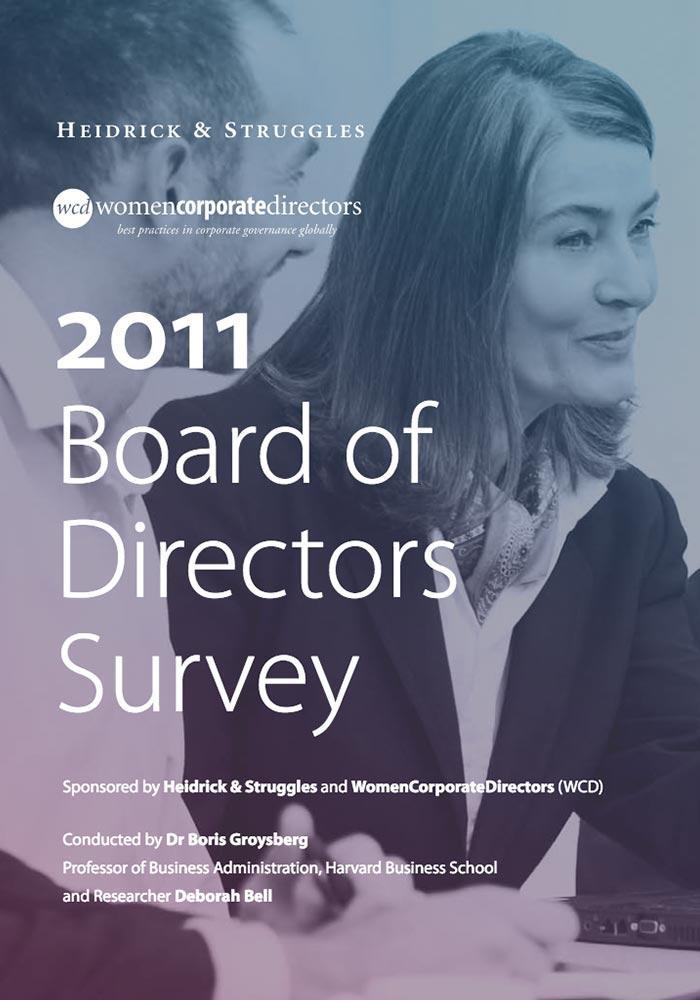 HEIDRICK & STRUGGLES: 2011 BOARD OF DIRECTORS SURVEY- WOMEN CORPORATE DIRECTORS: BEST PRACTICES IN CORPORATE GOVERNANCE GLOBALLY