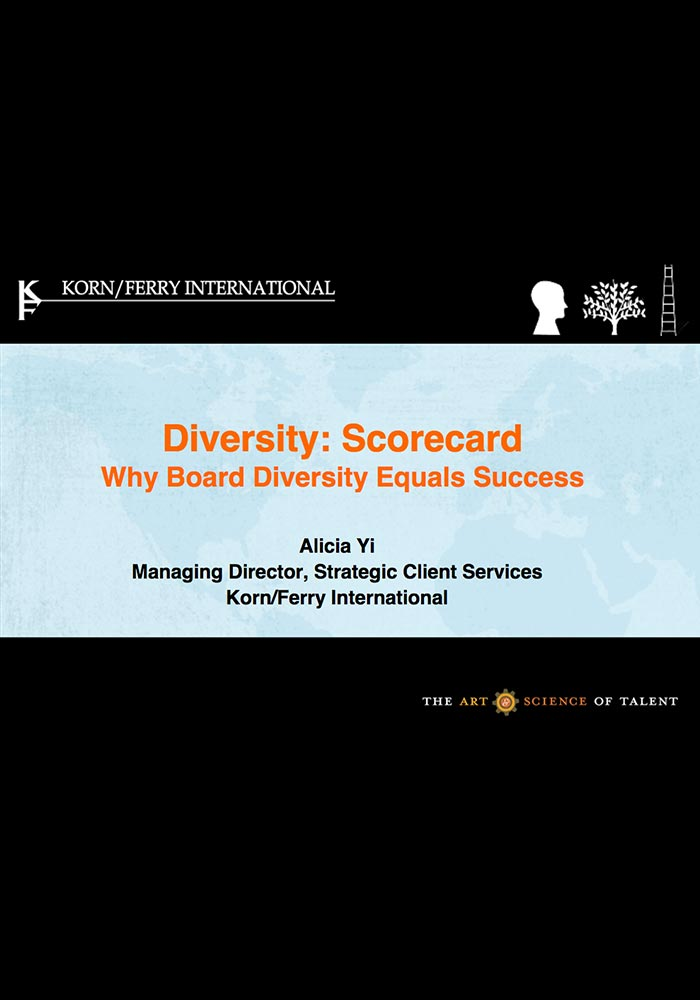 KORN/FERRY BOARD DIVERSITY IN ASIA PACIFIC STUDY 2011