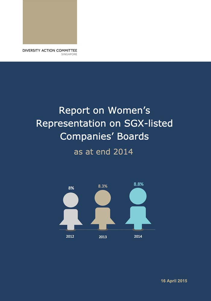 DAC – REPORT ON WOMEN'S REPRESENTATION ON SGX-LISTED COMPANIES' BOARDS AS AT END 2014