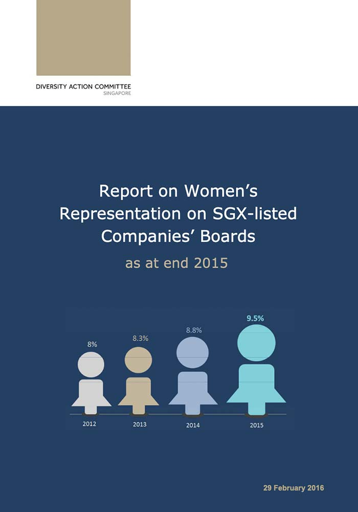 DAC – REPORT ON WOMEN'S REPRESENTATION ON SGX-LISTED COMPANIES' BOARDS AS AT END 2015