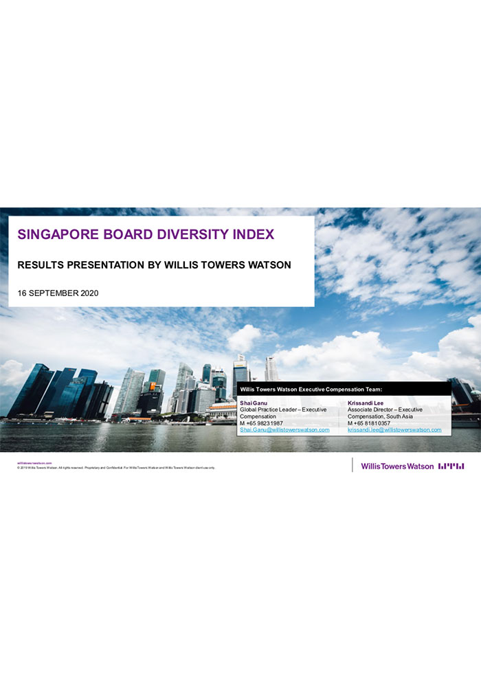 Willis Towers Watson and Singapore Institute of Directors launch Singapore Board Diversity Index
